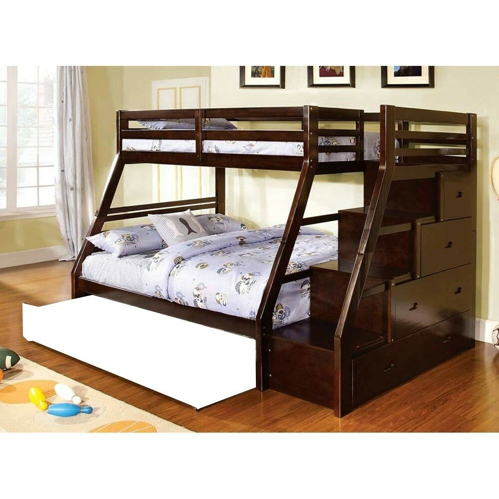 Ellington Twin Over Full Bunk Bed Built In Storage