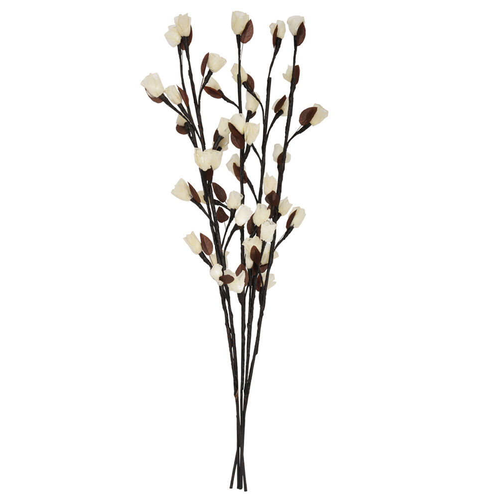 Brown Twigs Amp White Flowers With 40 Led Fairy Lights
