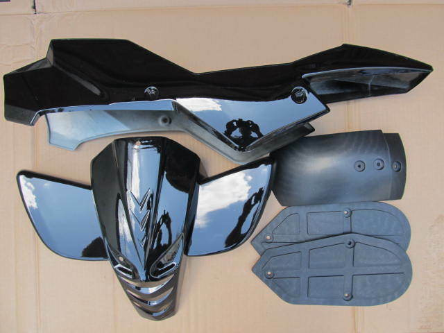 mini quad bike quadard atv plastics fairing kit complete many colours available ebay. Black Bedroom Furniture Sets. Home Design Ideas