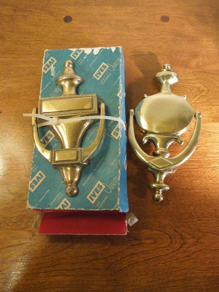 Lot of 2 vintage ives quality brass door knockers can be for Custom made door knockers