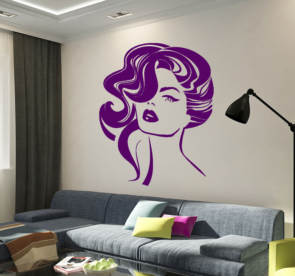 Wall Stickers Vinyl Decal Sexy Woman Hairstyle Fashion