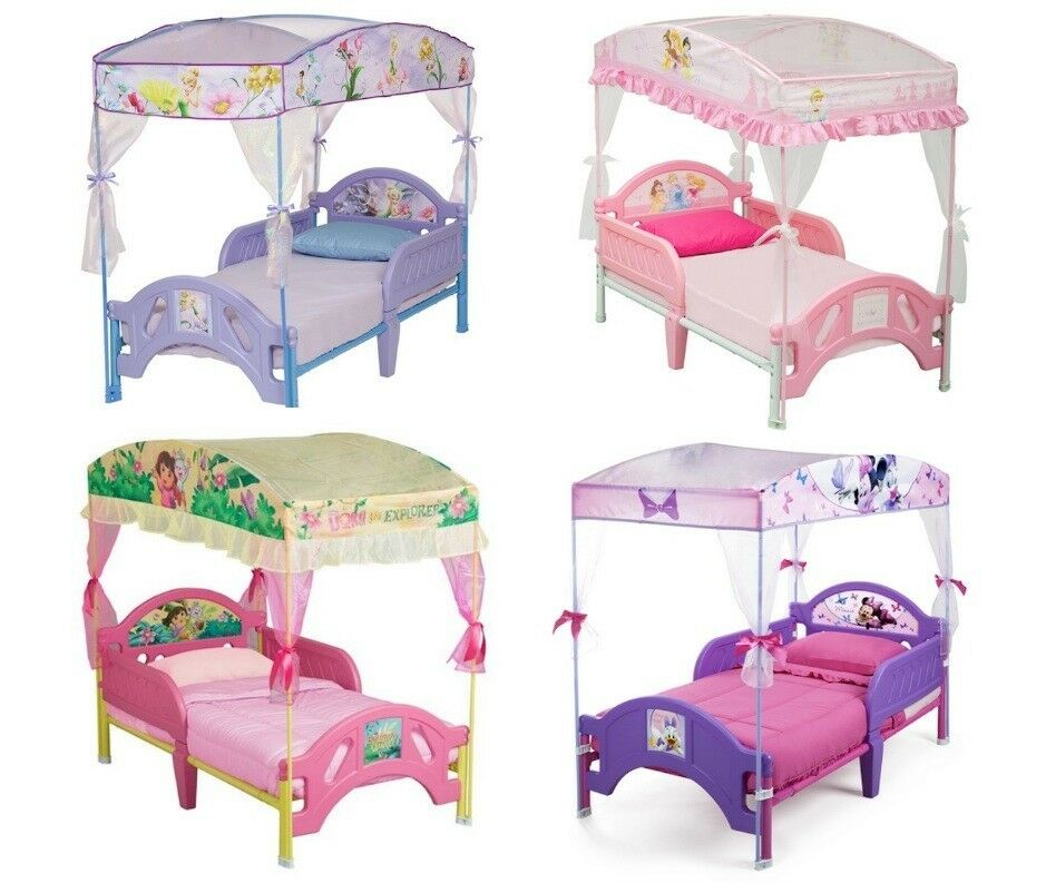 sc 1 st  eBay & TODDLER BED WITH CANOPY BED TENT - MULTIPLE CHOICE | eBay
