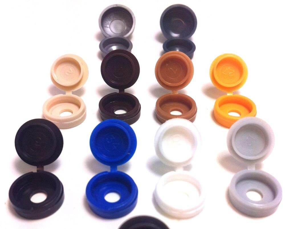 Small large hinged screw cover caps packs