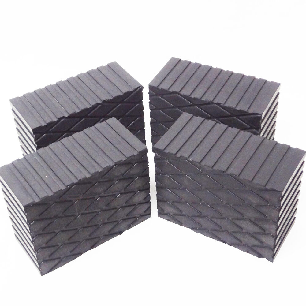 3 Quot Tall Solid Rubber Stack Blocks For Any Auto Lift Or