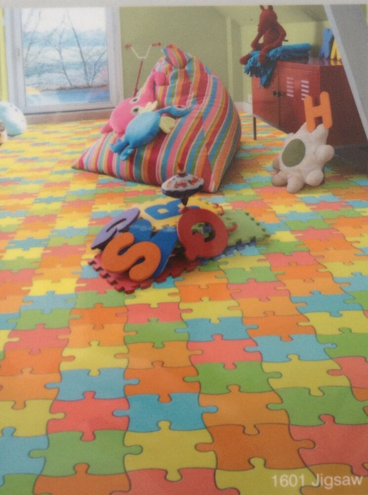 Kids Jigsaw Design Vinyl Lino Flooring Nursery Playroom Playmat Any Size Bargain Ebay
