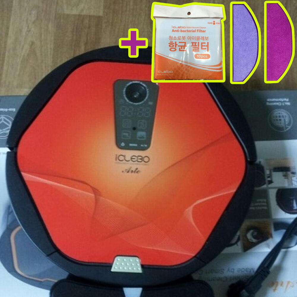 new iclebo arte ycr m05 50 intelligent robot vacuum cleaner red catchmop ebay. Black Bedroom Furniture Sets. Home Design Ideas