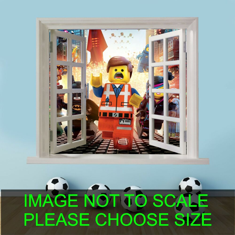 lego movie superheroes 001 faux window childrens bedroom playroom