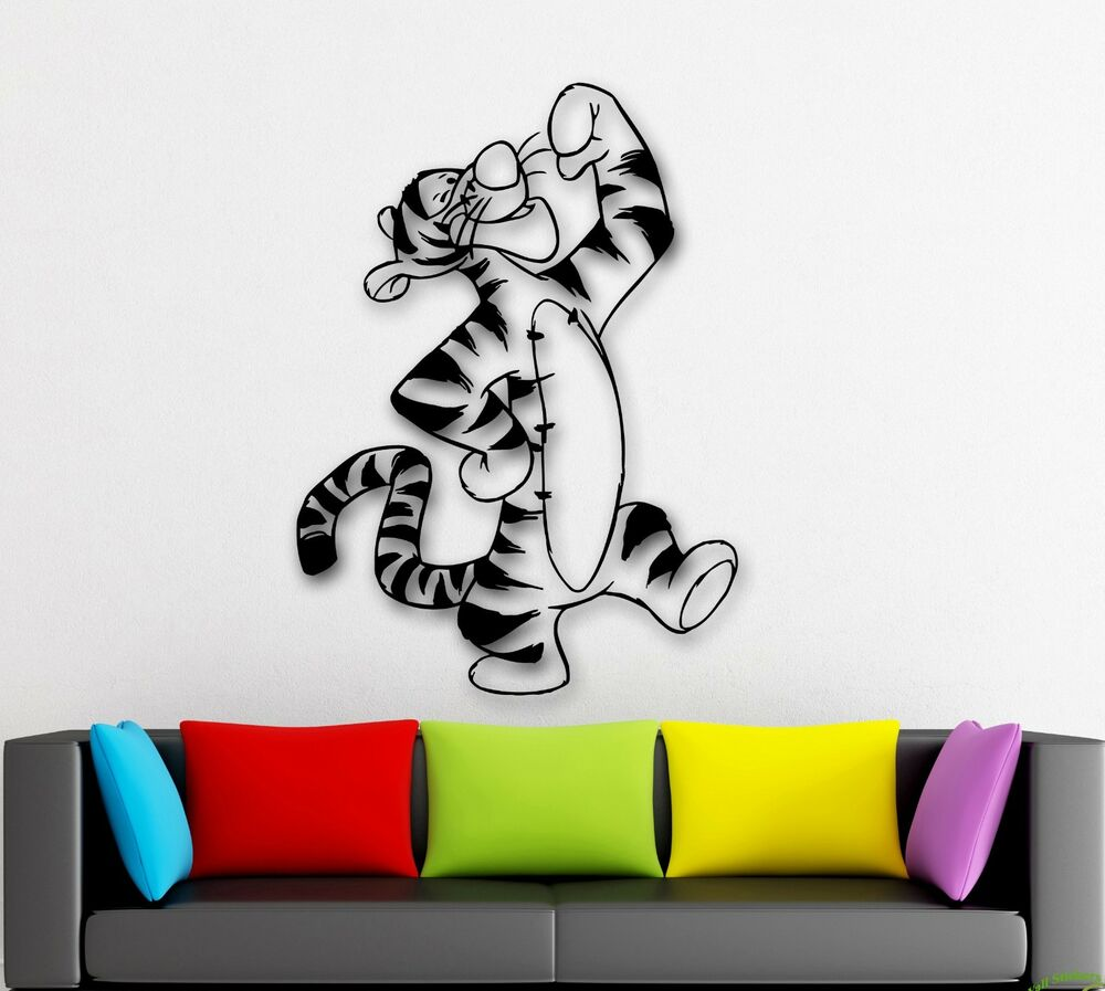 Wall Stickers Vinyl Decal Winnie The Pooh Cartoon Tigger