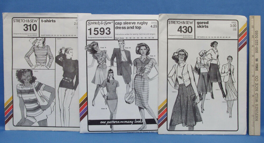 vintage stretch and sew pattern