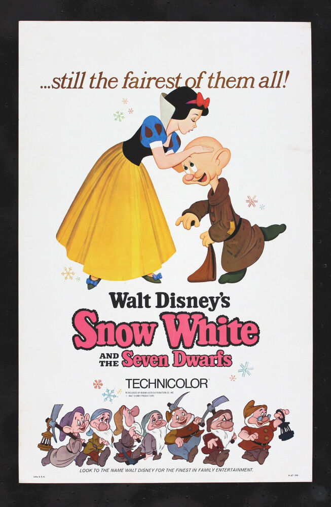 SNOW WHITE & SEVEN DWARFS * CineMasterpieces ORIGINAL ...