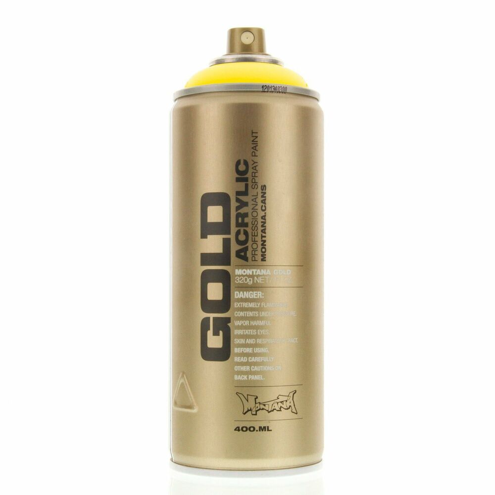 Montana Gold Acrylic Spray Paint Flash Yellow F1000 Urban Art 1 Can Ebay
