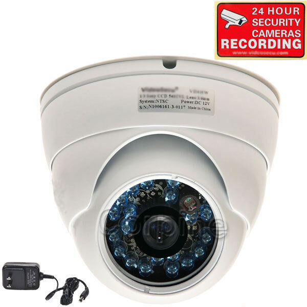 600tvl Dome Security Camera W Sony Ccd Outdoor Ir Day