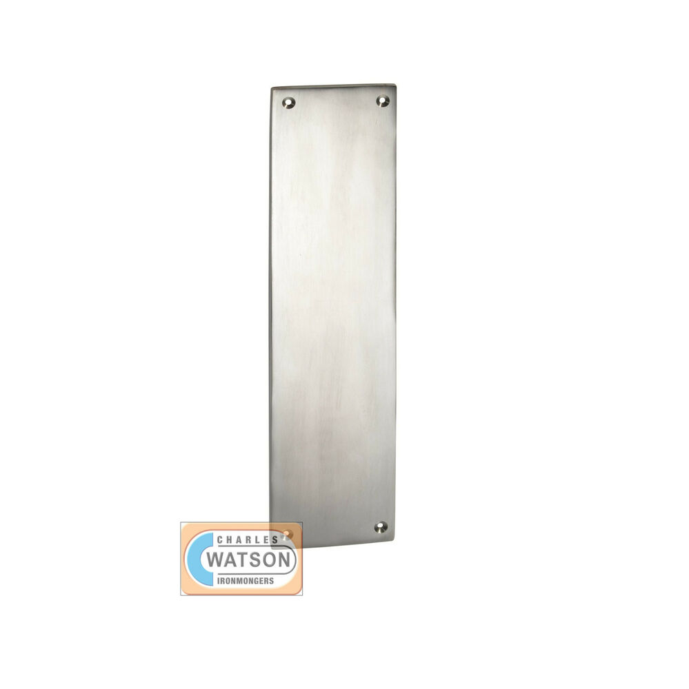 Saa push plate satin aluminium metal door finger plate for Door push plates