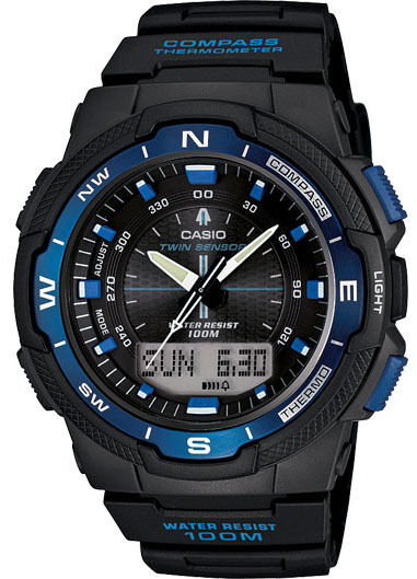 casio sgw500h 2b s sensor temperature compass