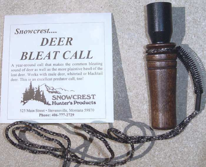 Deer Bleat Hunting Call with Solid Walnut Muzzle and