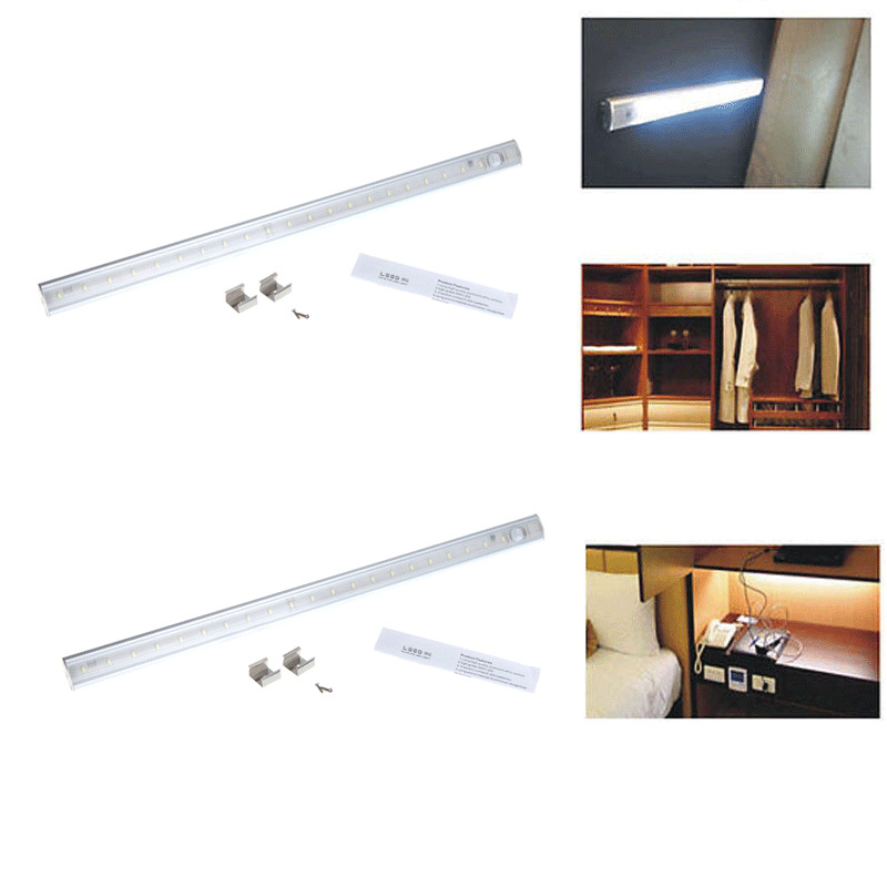 2x pir motion sensor lamp kitchen wardrobe cupboard led cabinet light 50cm uk ebay for 50cm kitchen cabinets