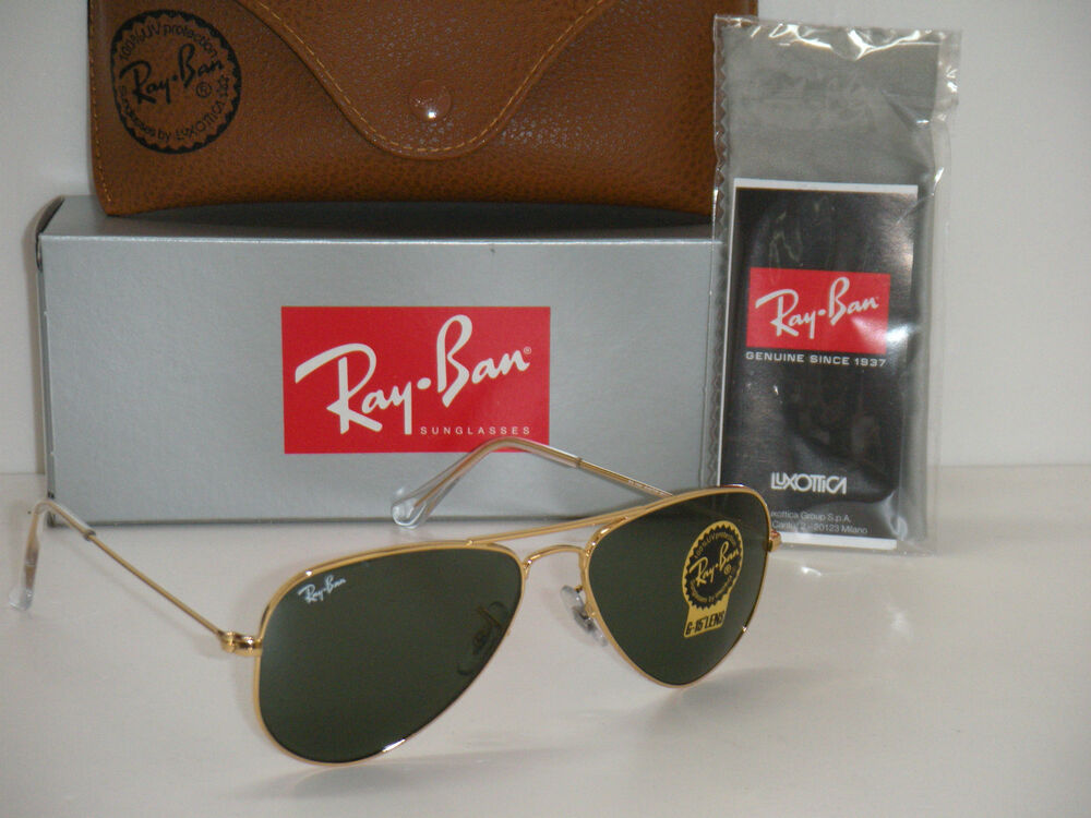 g 15 xlt lenses ray ban sunglasses  ray ban aviator rb 3044 l0207 52mm gold frame w/ g 15xlt green sunglasses