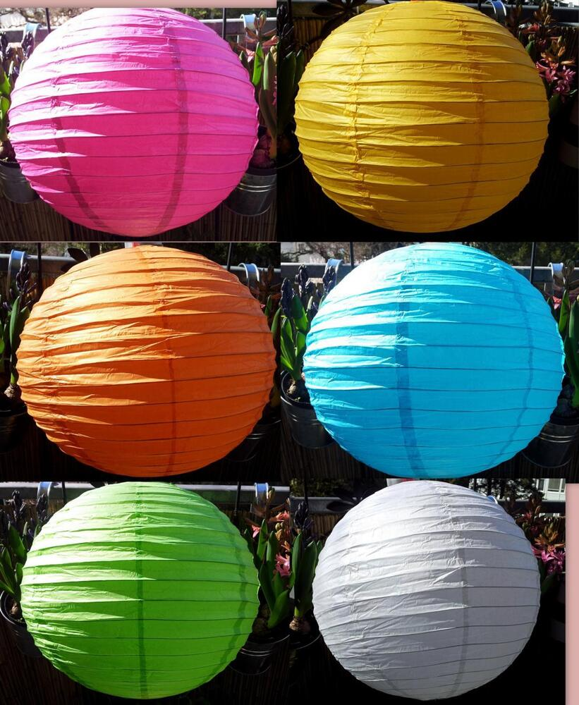 lampion lampenschirm rund japankugel papier kugel papierlampe papierleuchte ebay. Black Bedroom Furniture Sets. Home Design Ideas