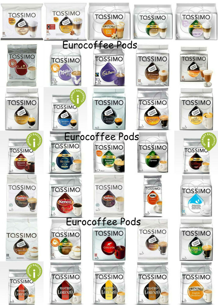 tassimo coffee t discs t disc capsules pods 44 flavours to choose from ebay. Black Bedroom Furniture Sets. Home Design Ideas