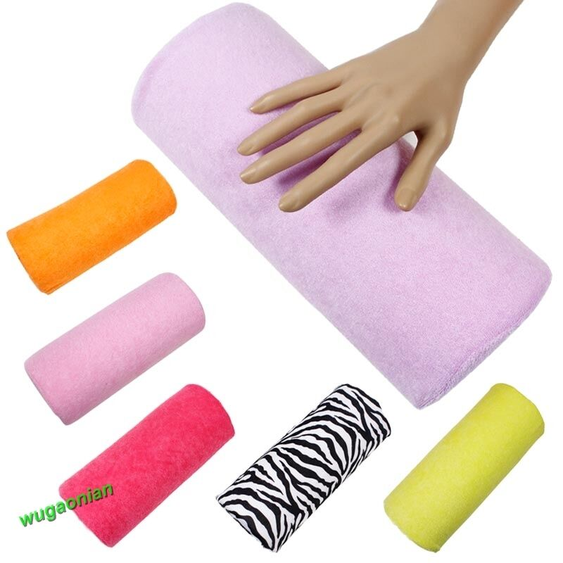 Free Manicure Beauty Hands Makeover: Manicure Care Salon Half Hand Cushion Rest Pillow Nail Art