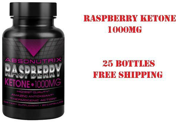 25 bottle absonutrix raspberry ketone1000mg 100 pure thermogenic weight loss ebay. Black Bedroom Furniture Sets. Home Design Ideas