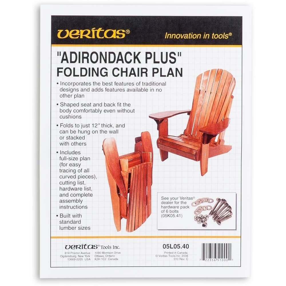 Veritas Folding Adirondack Plus Chair Plan AP