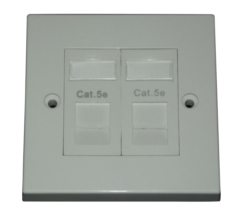 Cat5e Lj6c Rj45 Double Socket Face Plate Single Gang