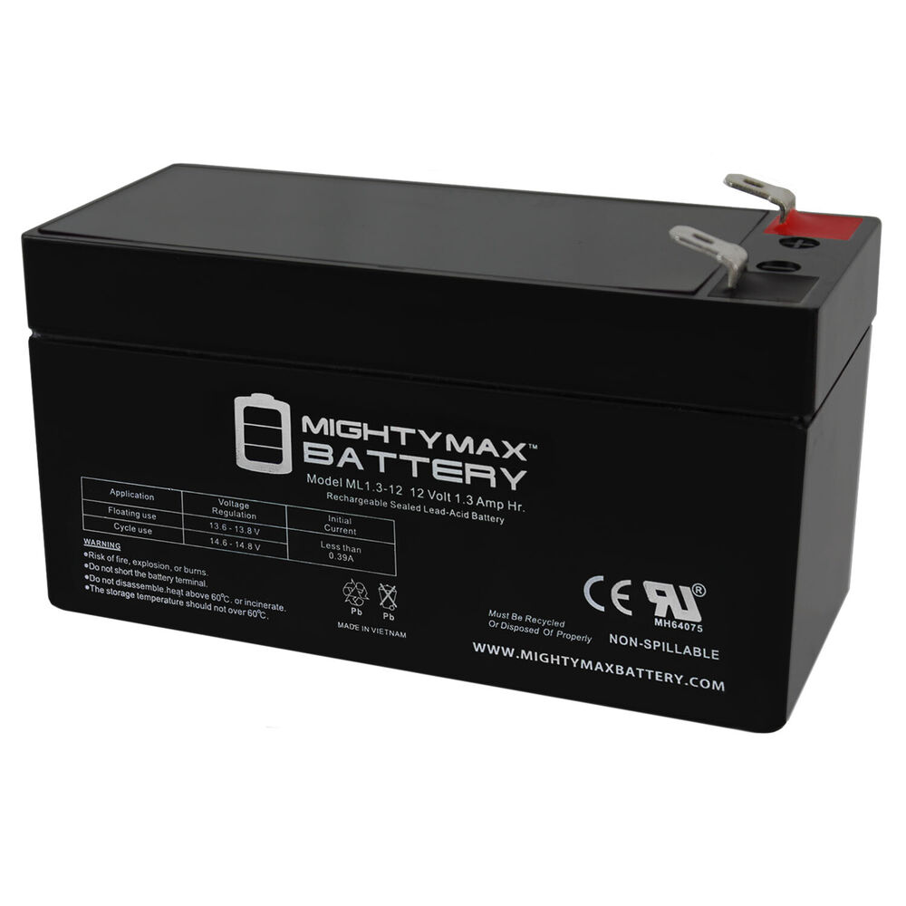 mighty max 12v 1 3ah battery replacement for mercedes benz 000000004039 ebay. Black Bedroom Furniture Sets. Home Design Ideas