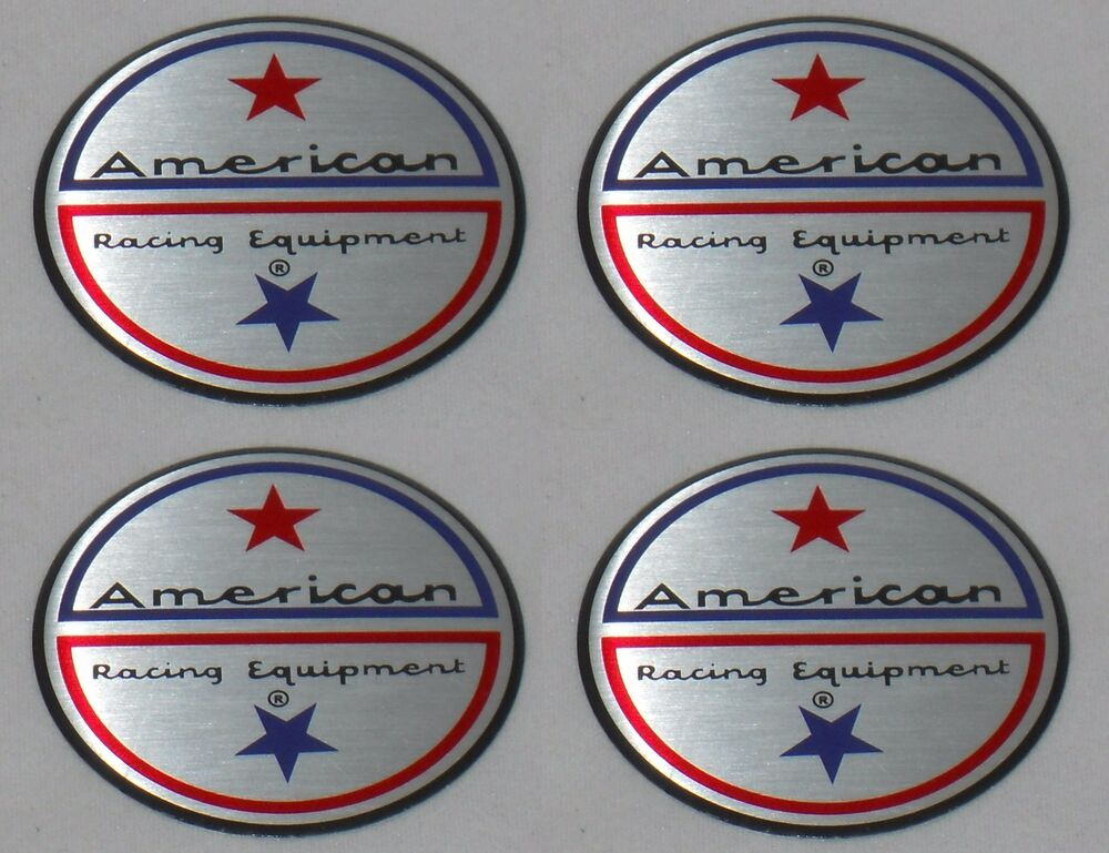 Set Of 4 American Racing Vintage Wheel Rim Center Cap