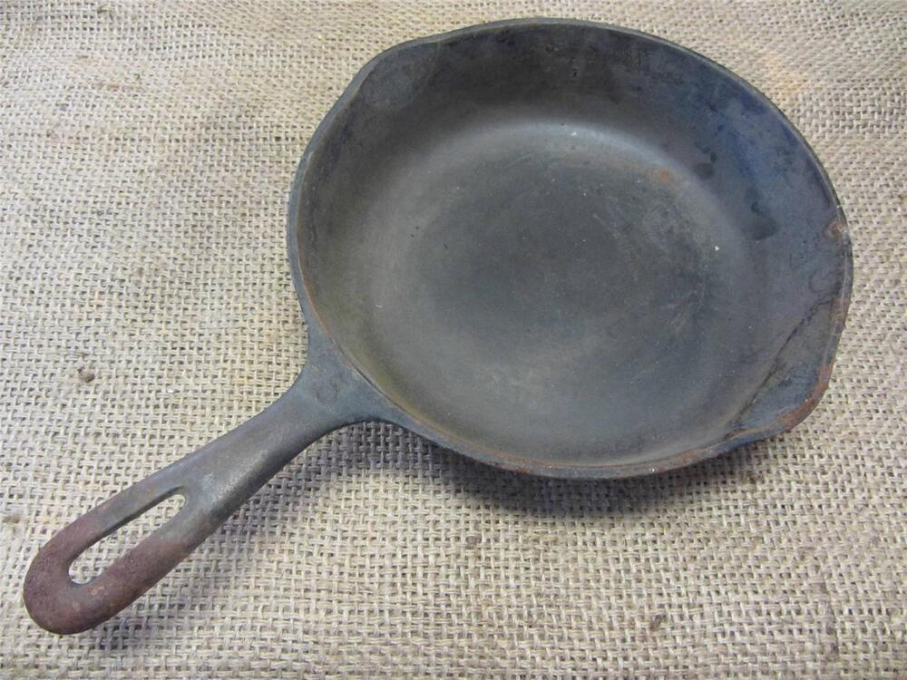 Okld Cast Iron ~ Vintage quot cast iron skillet gt camping antique old