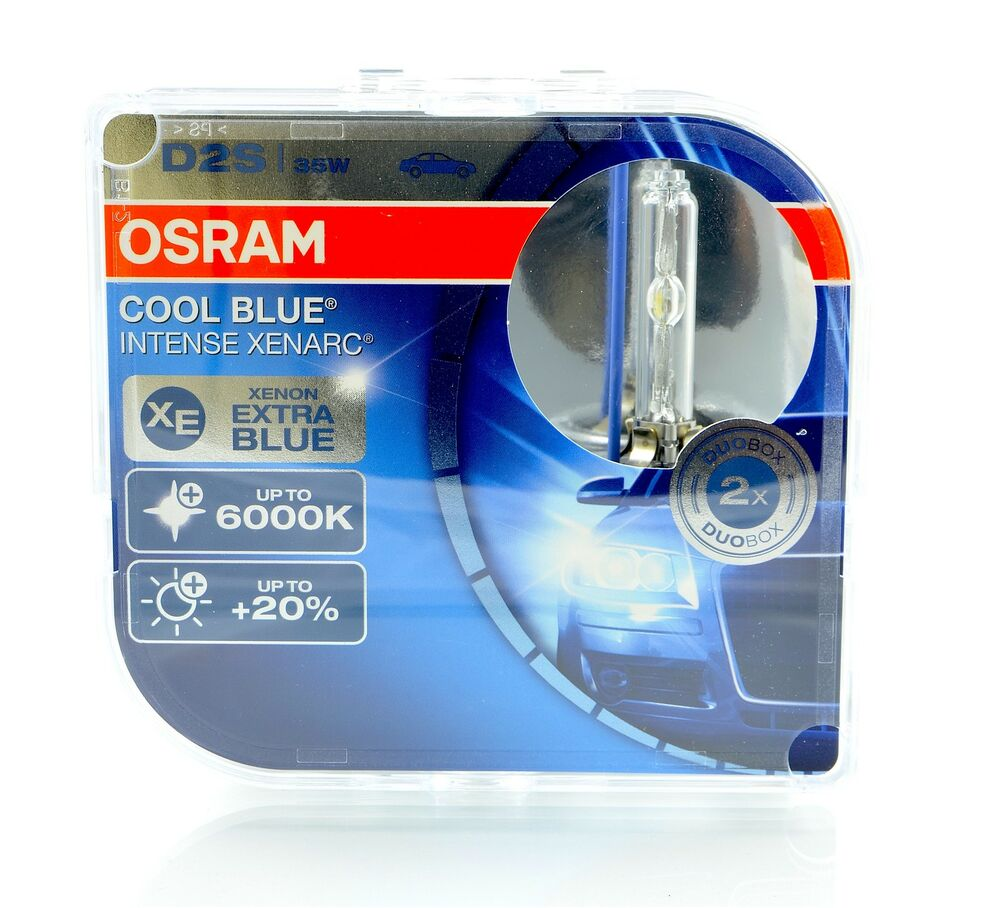 osram d2s cool blue intense xenon brenner 6000k 2 stk. Black Bedroom Furniture Sets. Home Design Ideas