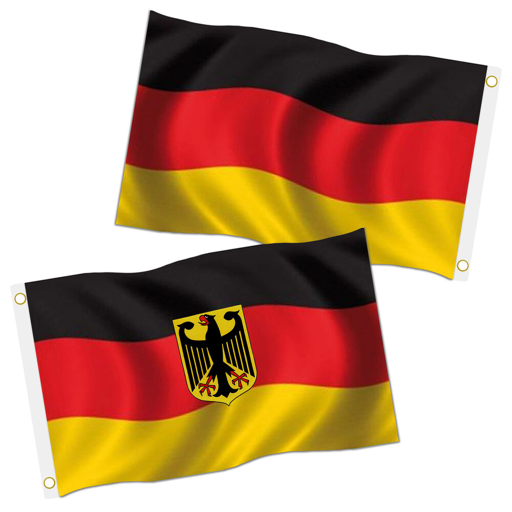 2 fahnen set 90x150 deutschland fahne xxl mit adler flagge. Black Bedroom Furniture Sets. Home Design Ideas