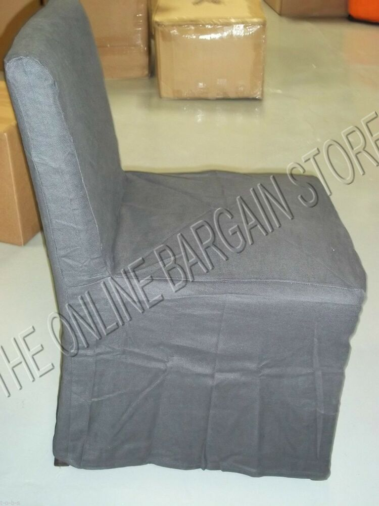 2 Pottery Barn West Elm Porter Armless Dining Kitchen Table Chair Slipcover Ebay