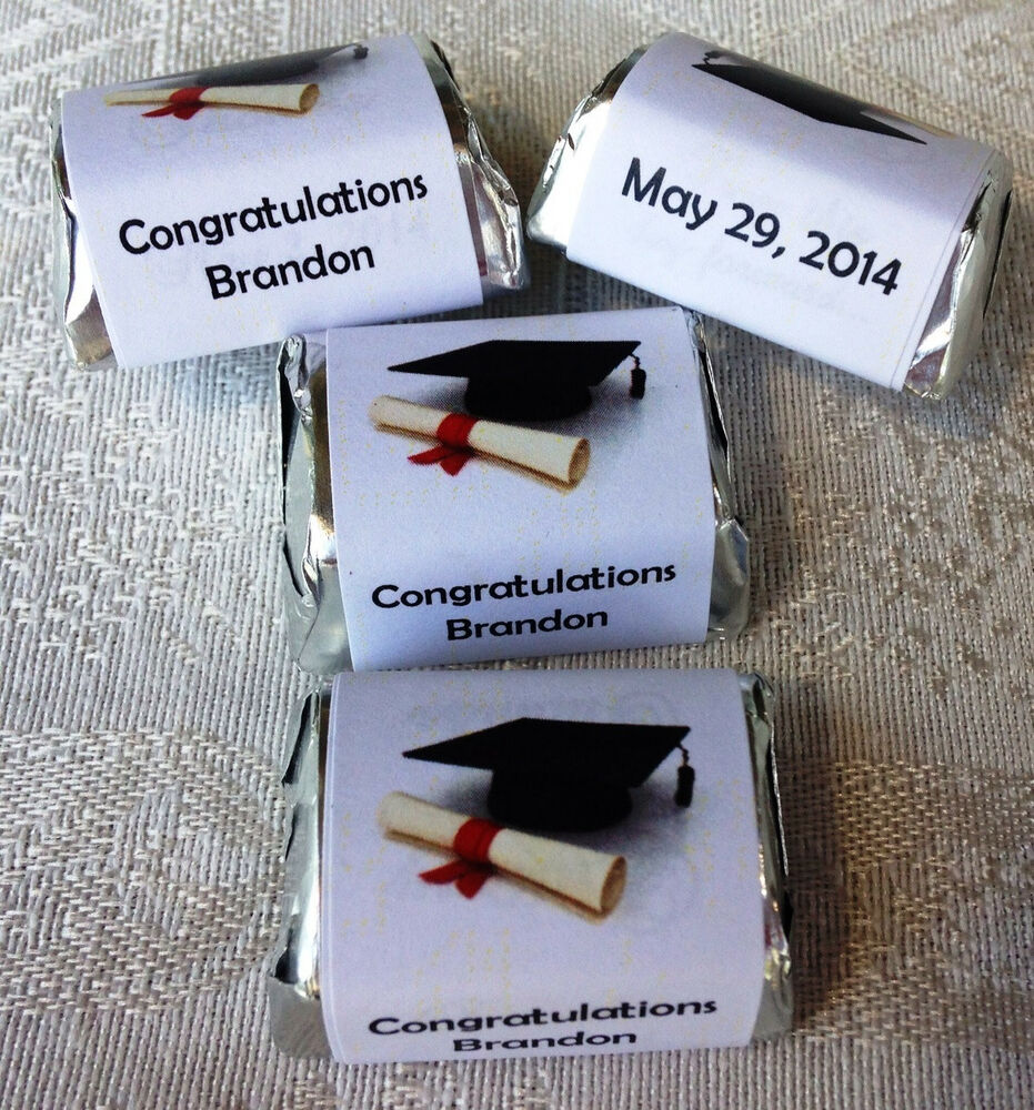 210 GRADUATION THEMED PARTY CANDY WRAPPERS/STICKERS/LABELS FAVORS ...