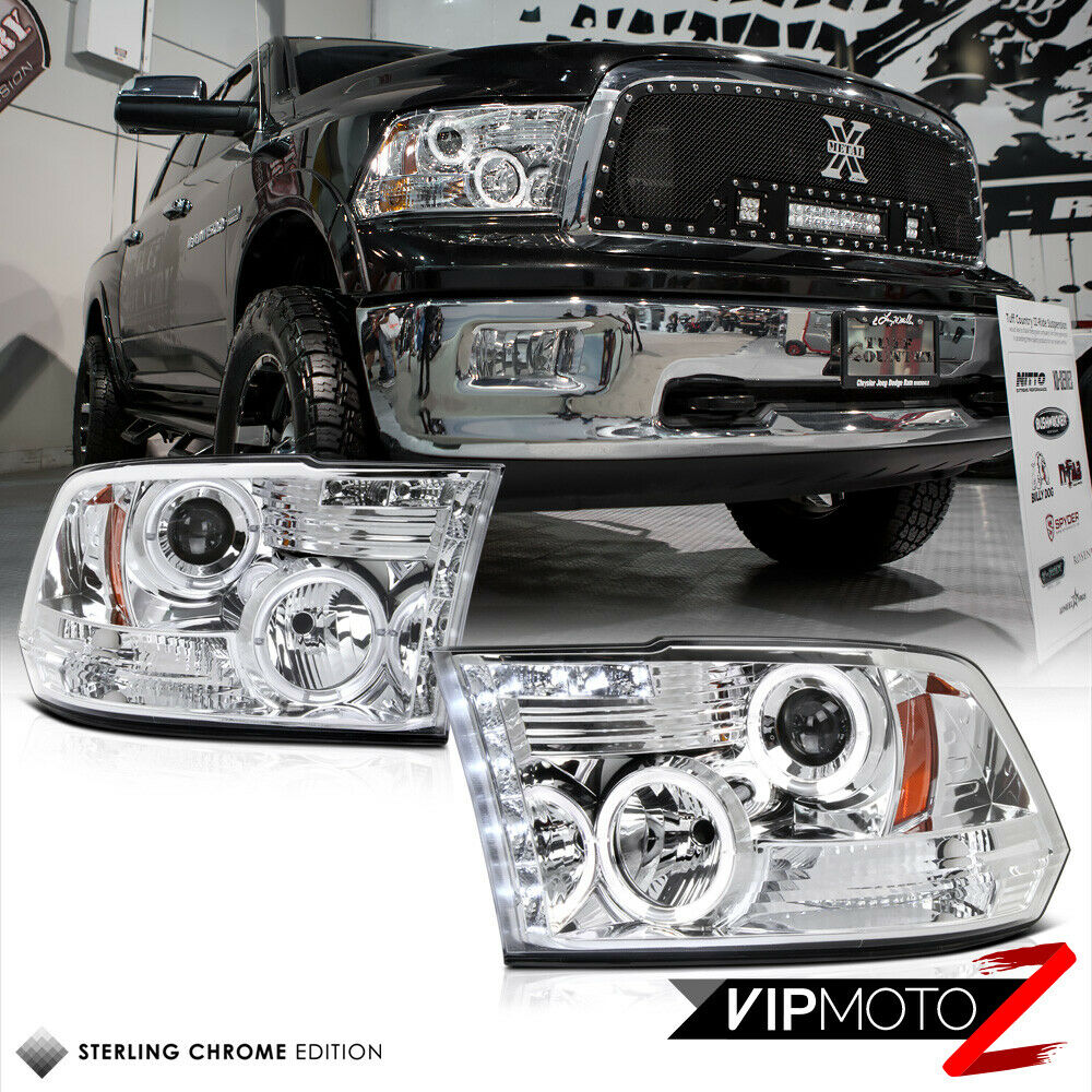 2011 2014 l r projector chrome halo headlight lamp 2009. Black Bedroom Furniture Sets. Home Design Ideas