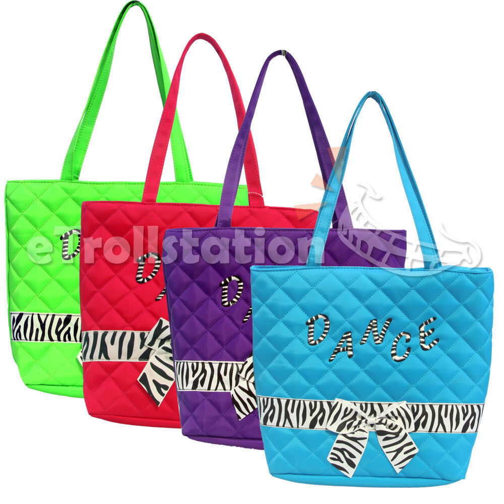 Tote Bag Pattern Uk : ... Nylon Dance Tote Bag w/ Quilted Zebra Pattern Bow Ribbon NEW eBay