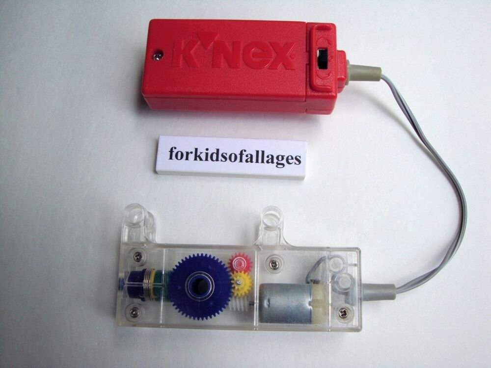 Battery Motor Parts : Knex motor battery powered forward reverse red replacement
