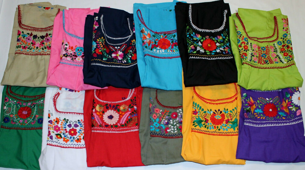 Embroidered Peasant Blouse Uk 46