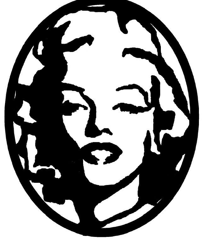 Marilyn monroe cnc cutting dxf format file for plasma or laser or