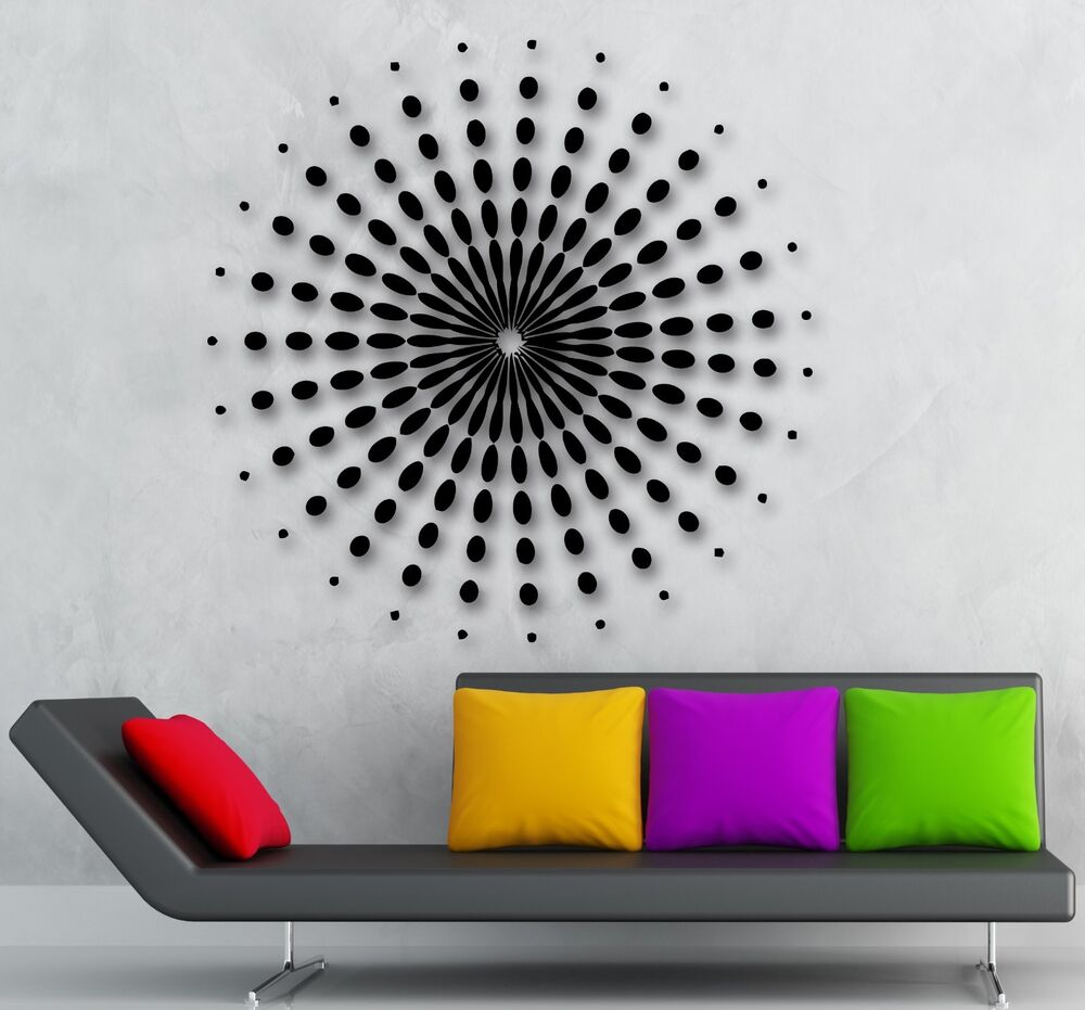 Wall stickers vinyl decal mandala buddhist symbol space for Space decals