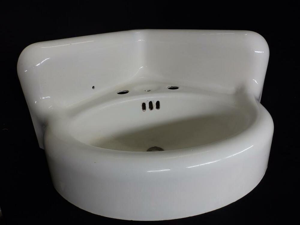 vintage corner bathroom sink antique cast iron white porcelain corner sink vintage 21236