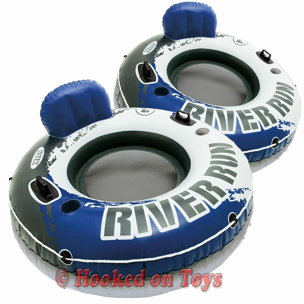 Intex 2pk river run i inflatable tubes 58825 1 person float two pack