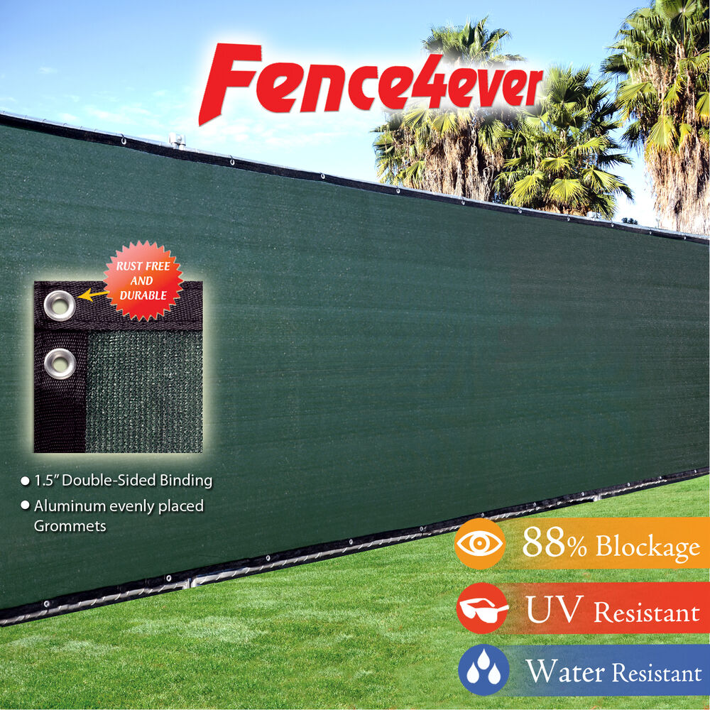 6'Tall X50' 6ft Fence Screen Shade Cover Mesh Windscreen