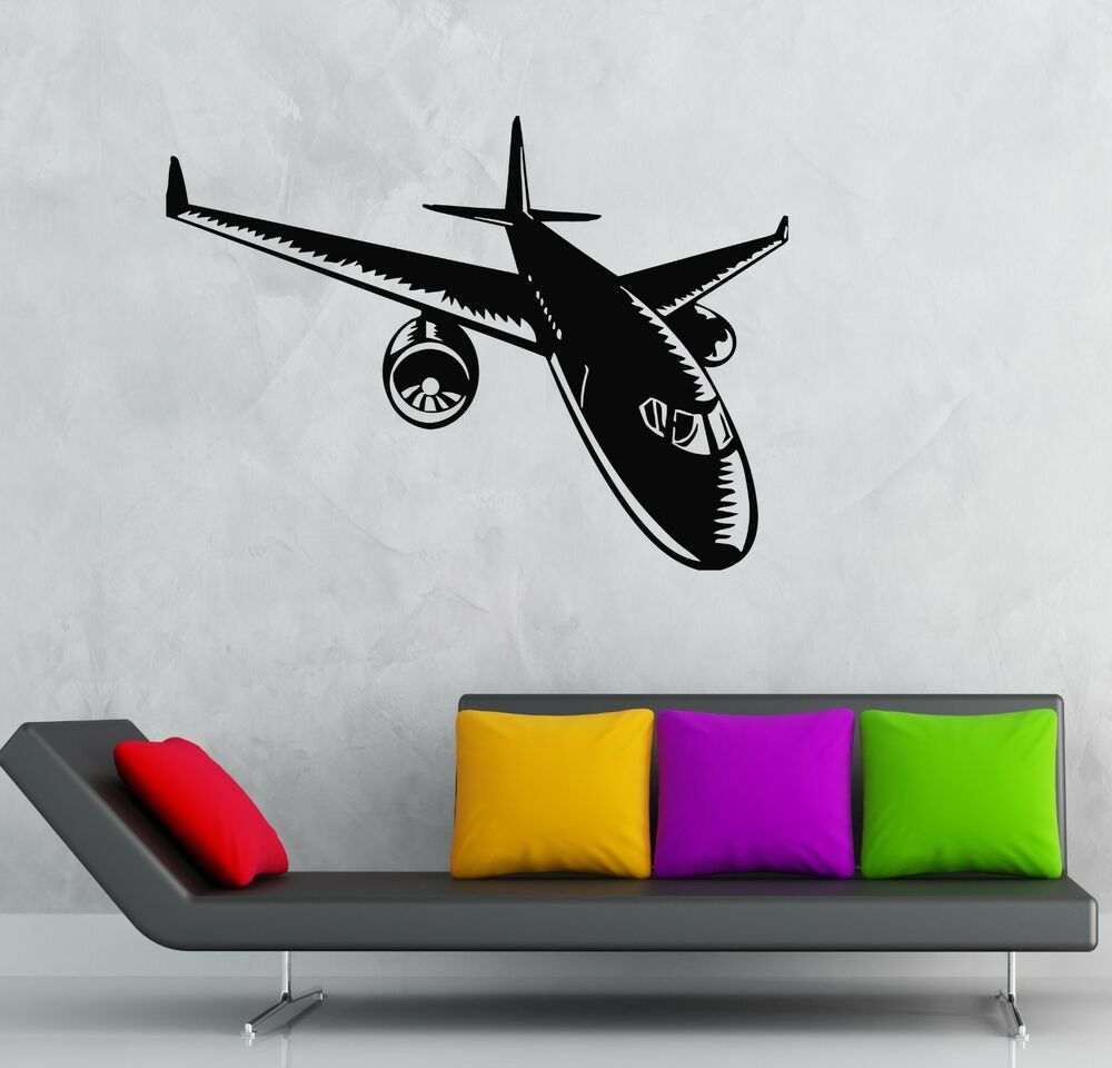 Wall Stickers Vinyl Decal Aircraft Aviation Airliner Cool