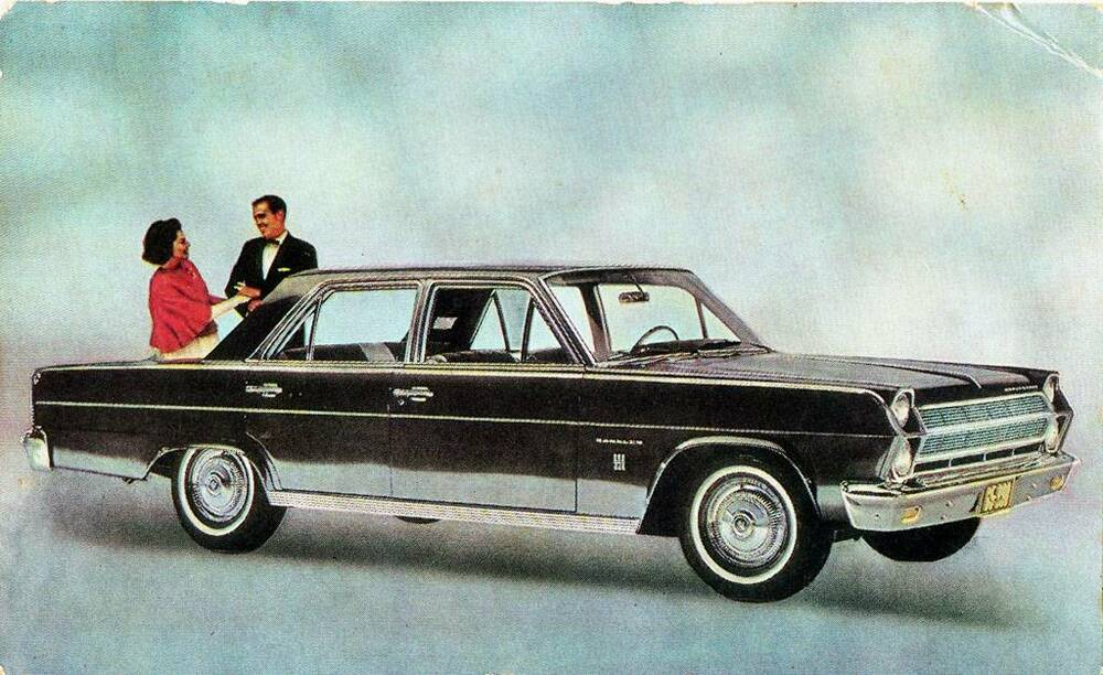 Old Print 1966 Amc Ambassador 990 4 Door Sedan Ebay