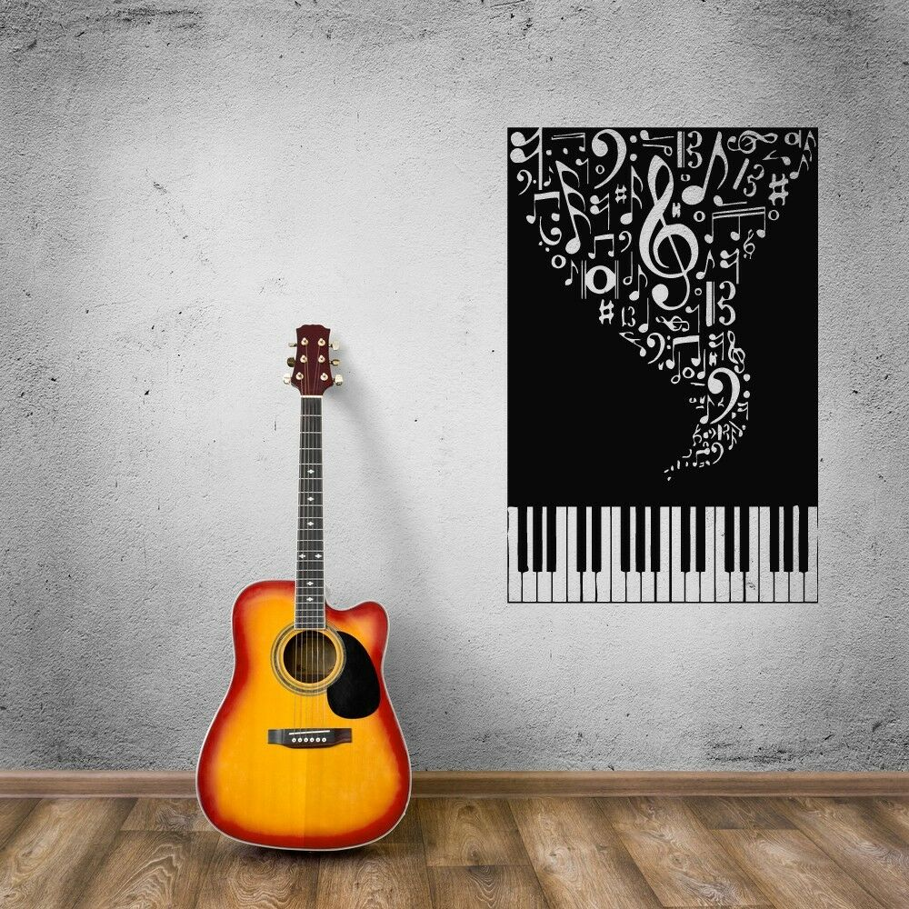Wall Stickers Vinyl Decal Music Piano Sheet Musical Instruments Ig750 Ebay