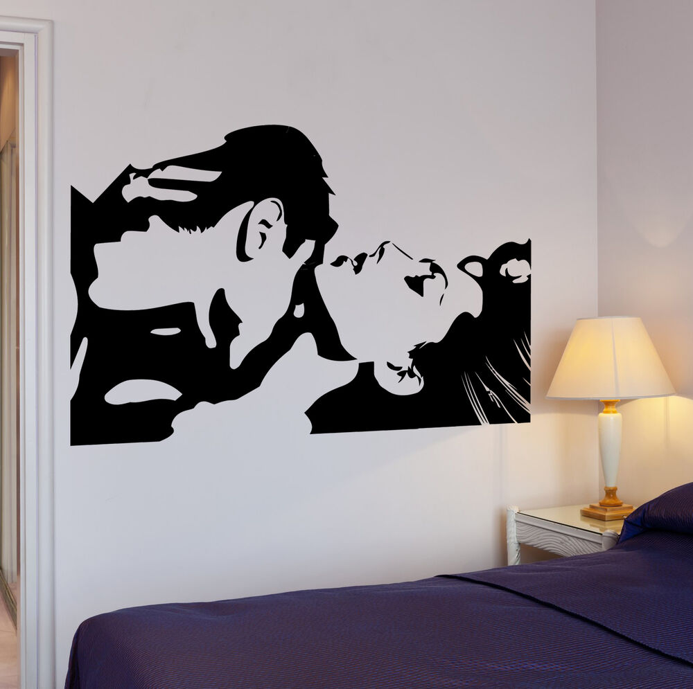 Wall Stickers Vinyl Decal Lovers Loving Couple Cool Decor