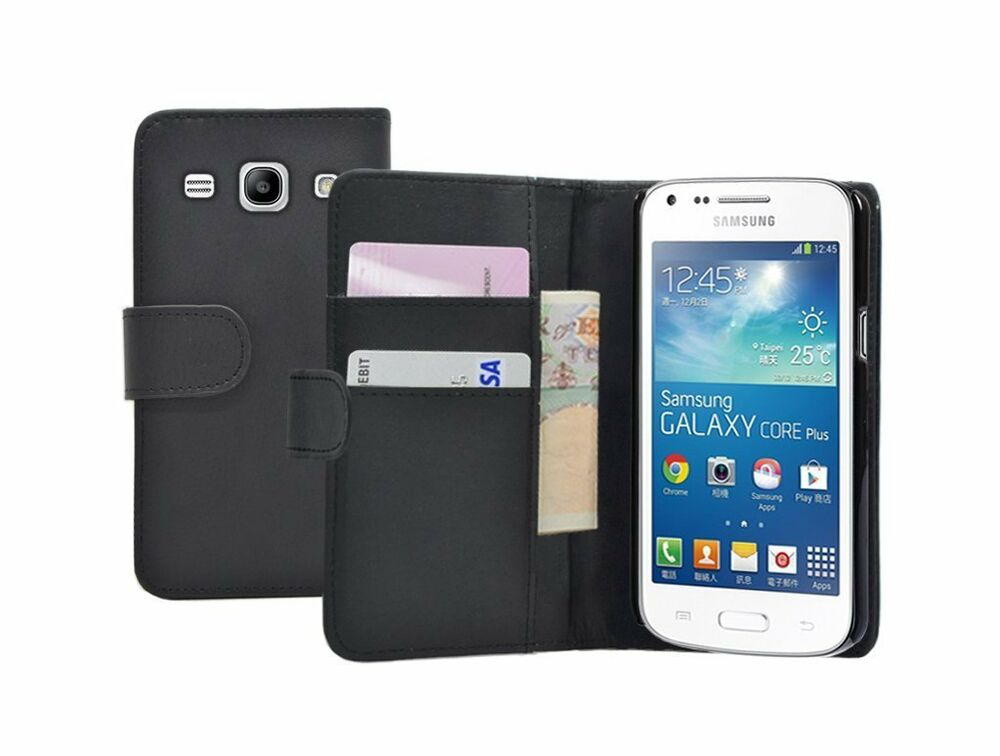 wallet leather case cover pouch samsung galaxy core plus sm g350 g3502 2 film ebay. Black Bedroom Furniture Sets. Home Design Ideas