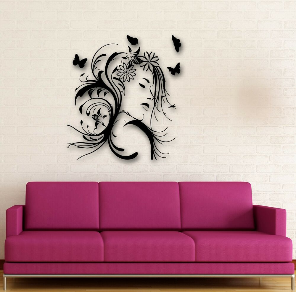 Wall Stickers Vinyl Decal Abstract Beautiful Girl Great Room Decor Ig641 804551471773 Ebay