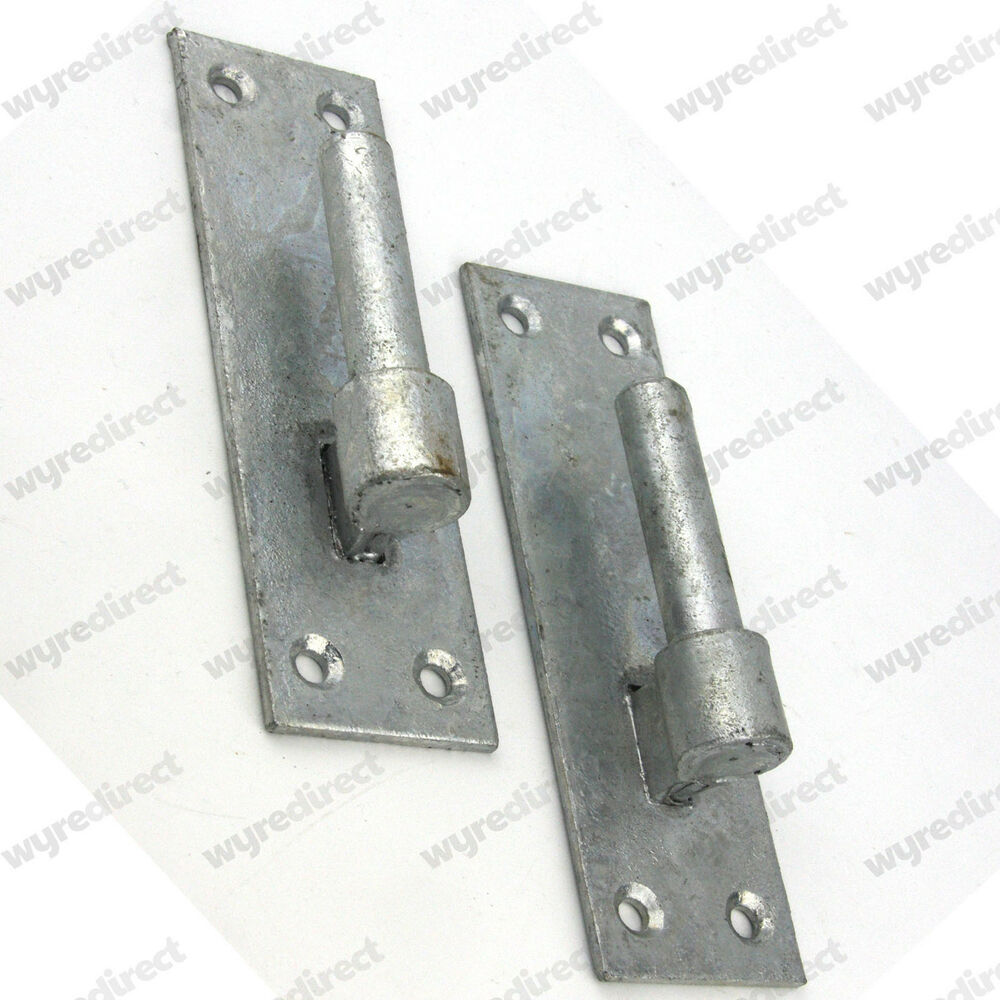 2 Heavy Duty Wrought Iron Gate Hinges Brackets 16mm Pin